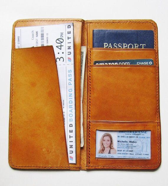 Personalized Passport Boarding Pass Wallet   by johnbrandonusa, $99.00