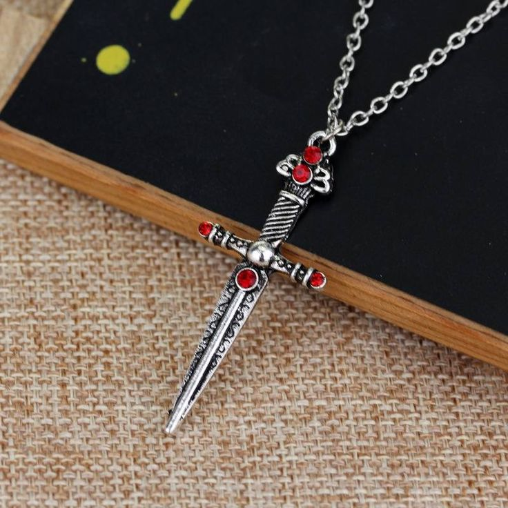 Gryffindor s sword Jewelry Harry Potter Horcrux Hogwarts School Badge Necklace Christmas : Product  Material: Alloy  Production process: electropla.