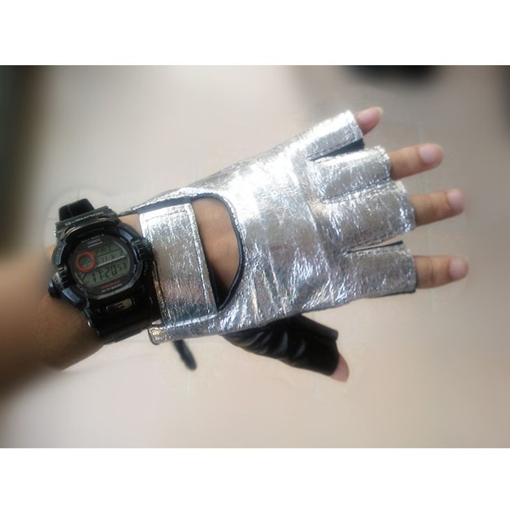 Free shipping Garment Leather hip hop HIP HOP DS Space Silver Gloves Men Mittens Dance apparel wholesale and retail