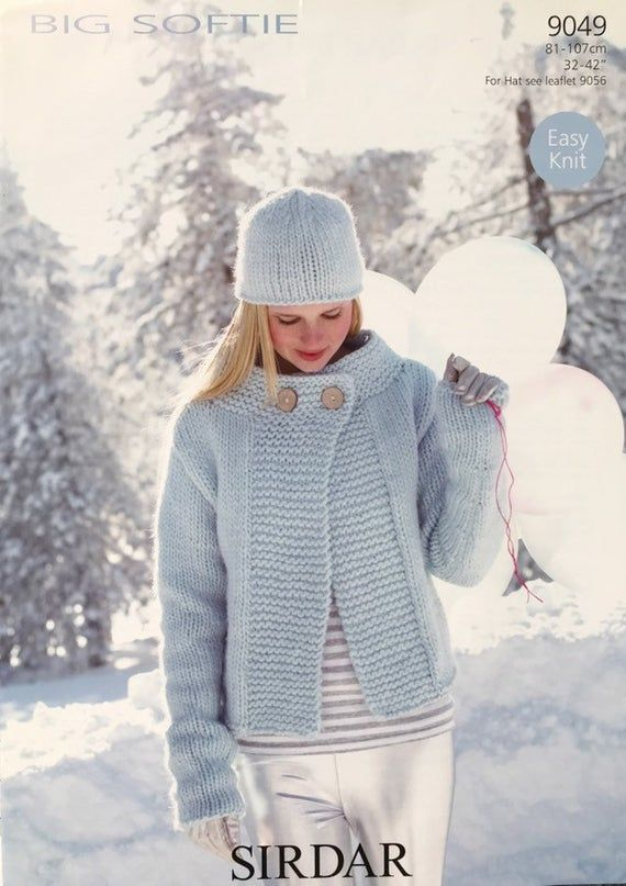 """sirdar Chunky Knitting  Pattern ladies cardigan  Jacket Size  32//42/"""""""