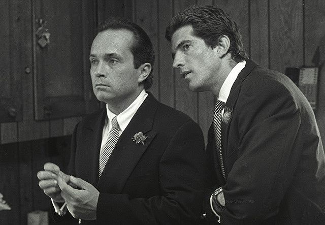 Prince Anthony Radziwill wedding day with Best Man John F. Kennedy Jr. in 1994