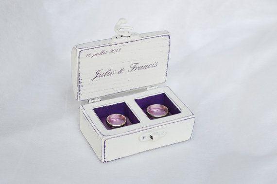 Rustikal Ehering Kästchen Ring-Träger Kästchen von GregolinoWedding