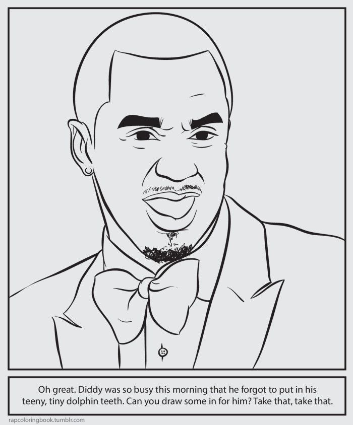 9 best art attacks bun b s rap coloring and activity for Rapper coloring pages