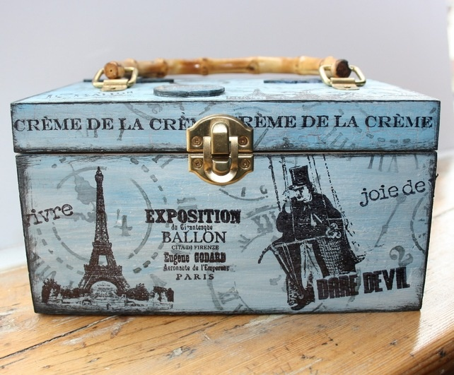 Paris Themed Vanity Case or Trinket Box
