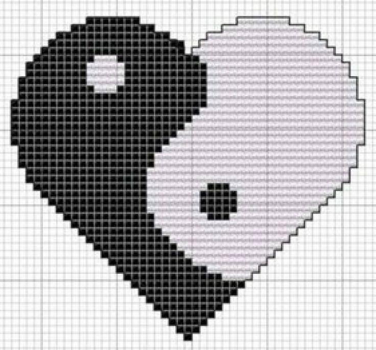 zwart/wit hart