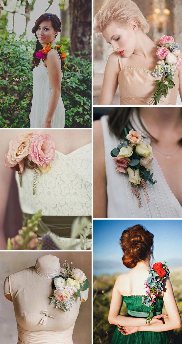 Pretty Bridesmaids Dress Corsages - A Stylish and Budget Friendly Alternative to Bouquets | www.onefabday.com