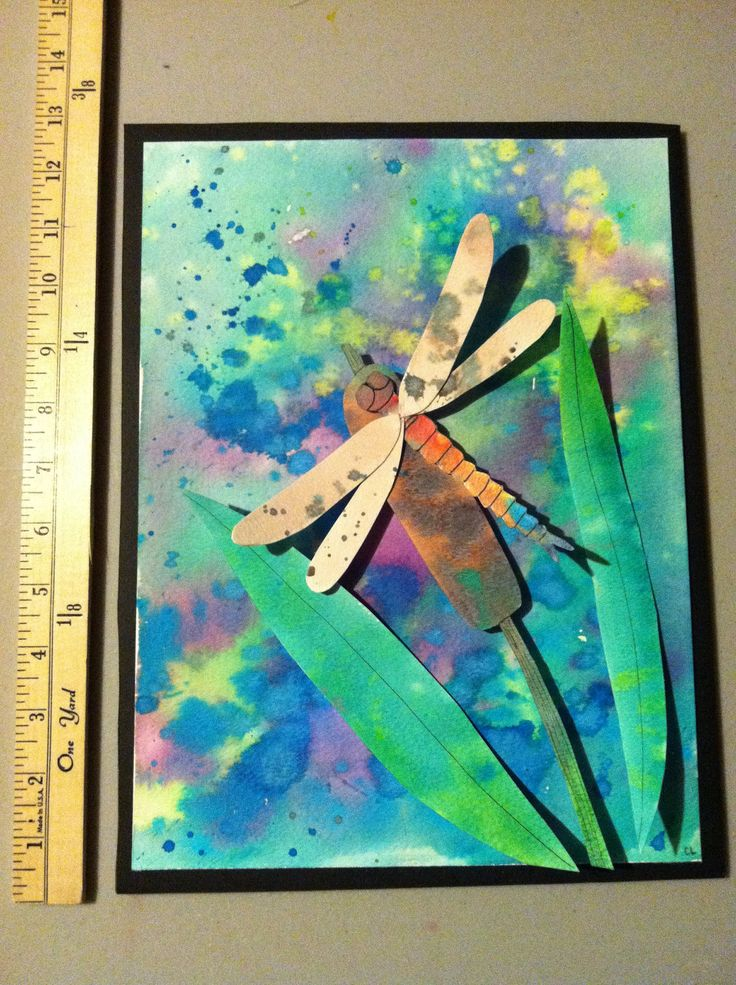 5th or 6th grade art project idea lesson watercolor bugs and backgrounds
