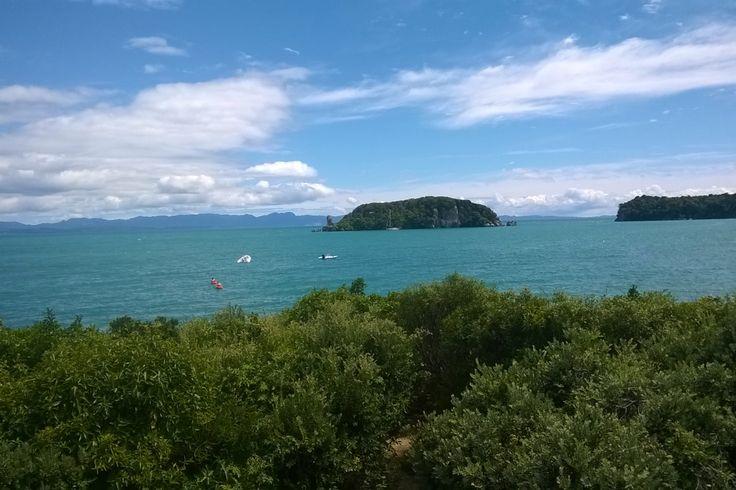 Stunning ocean-front beach bach in Tata Beach, Golden Bay | Bookabach