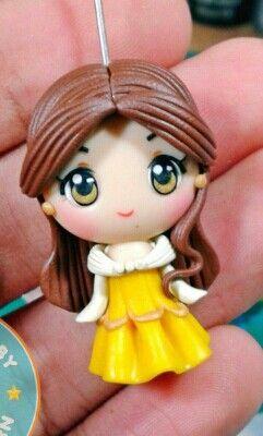 Polymer clay Belle by fern