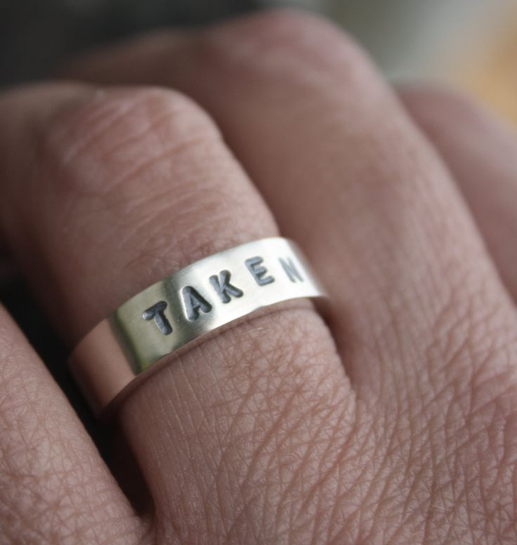 unique mens wedding ring stamped