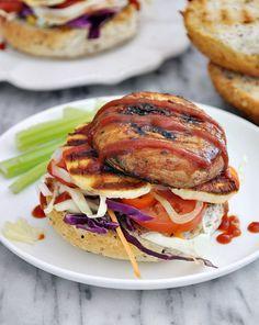 Grilled Portobello Mushroom & Haloumi Burgers Recipe [Vegetarian]
