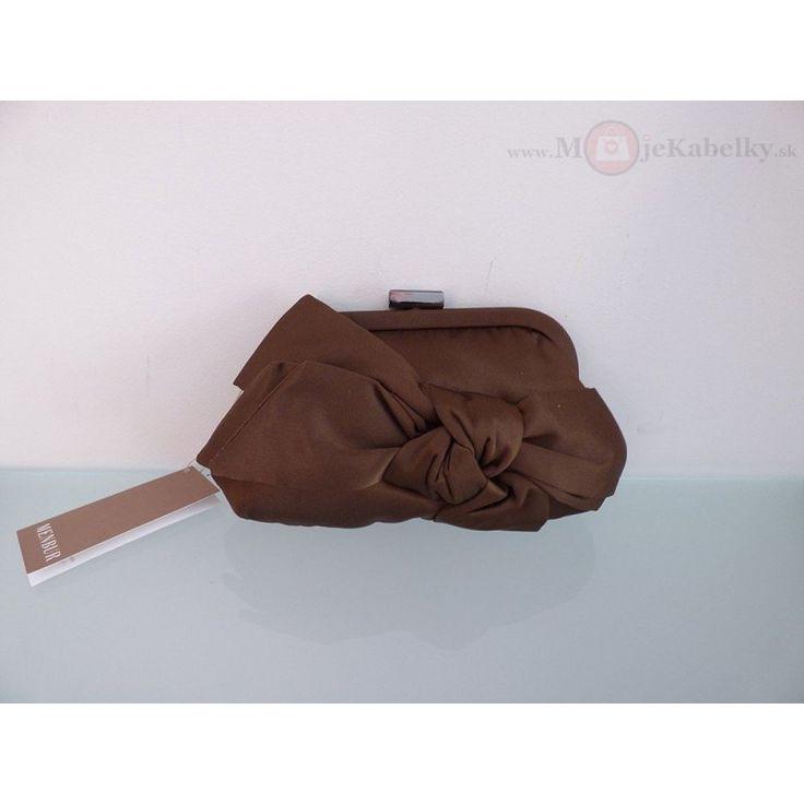 Spoločenská značková kabelka Menbur hnedá textília - 815060002Brown