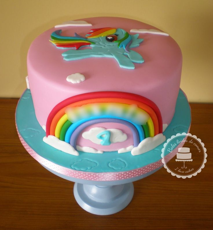 rainbow dash cake   Bolo Rainbow Dash / Rainbow Dash cake