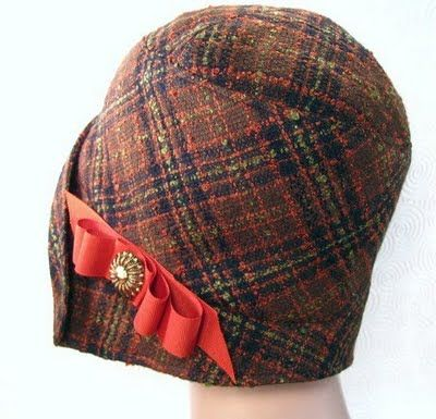 vintage look plaid cloche  #millinery #judithm #hats