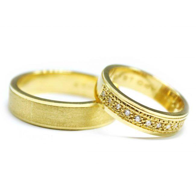 Plana Doble Pavé - Argollas de Matrimonio