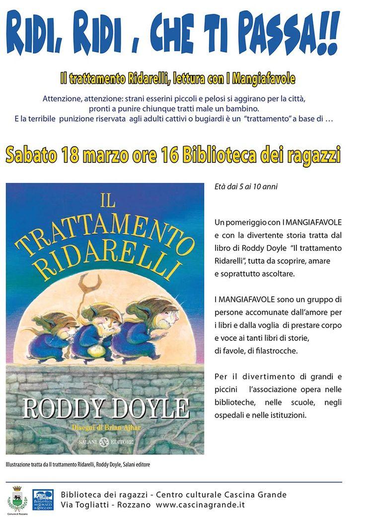 18.3.2017 ore 16:00 - Ridi, ridi che ti passa!  con i #Mangiafavole Biblioteca dei ragazzi - Rozzano (MI)