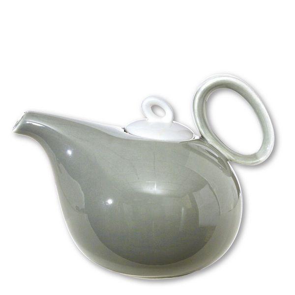 Théière porcelaine Teo gris 1 L