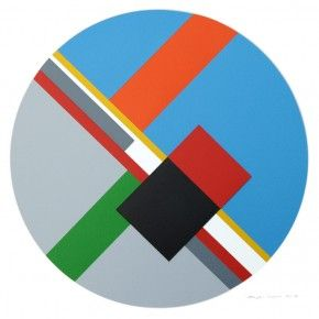 Bryce Hudson  Untitled Composition (#28)  2013  Oil on Arches Watercolor Paper and Board with mixed media adhesive