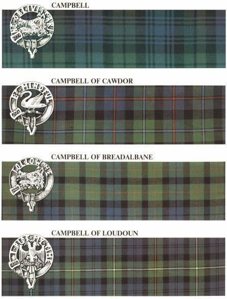 http://home.comcast.net/~ccsreg1/tartan2.htm  - 4 Authorized Campbell Tartans