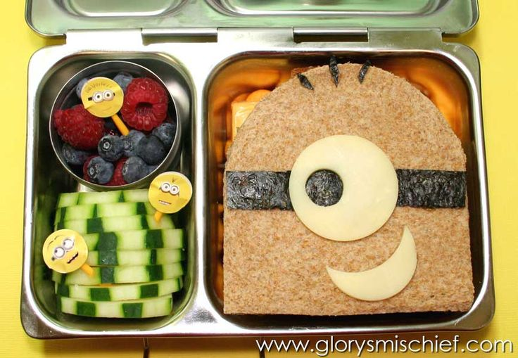 Despicable Me Minion Kids Bento School Lunch - Healthy Ideas From GlorysMischief.com