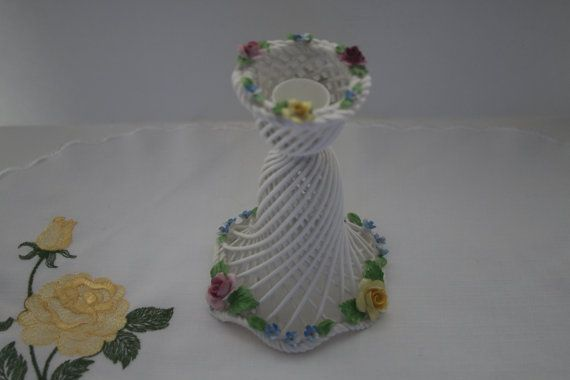Best Bone Denton Candle Holder by Straffordshire by TinasDecor