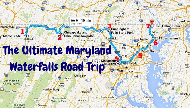 Visit all of Maryland's major waterfalls on this scenic road trip!