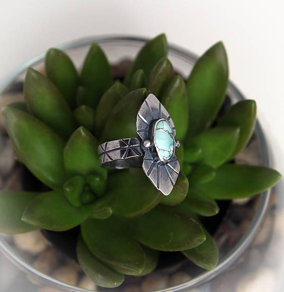 Turquoise Ring Turquoise Jewelry Sterling silver Ring Gobi