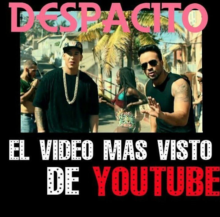 DYMFC_BAires : El numero 1 !!!! #Despacito llego a ser el video mas visto en #youtube ���� @daddy_yankee @LuisFonsi �������� https://t.co/SEdl3x0Taz | Twicsy - Twitter Picture Discovery