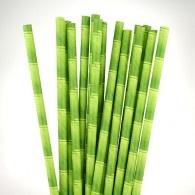 Green Bamboo Paper Straws