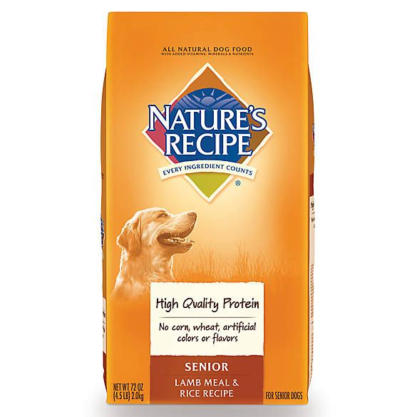 Nature S Recipe Senior Dog Food Dog Food Recipes Lamb Rice