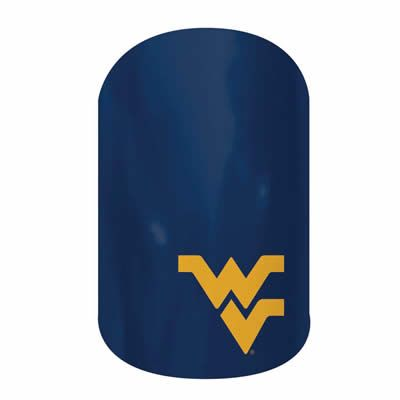 West Virginia University  nail wraps by Jamberry Nails