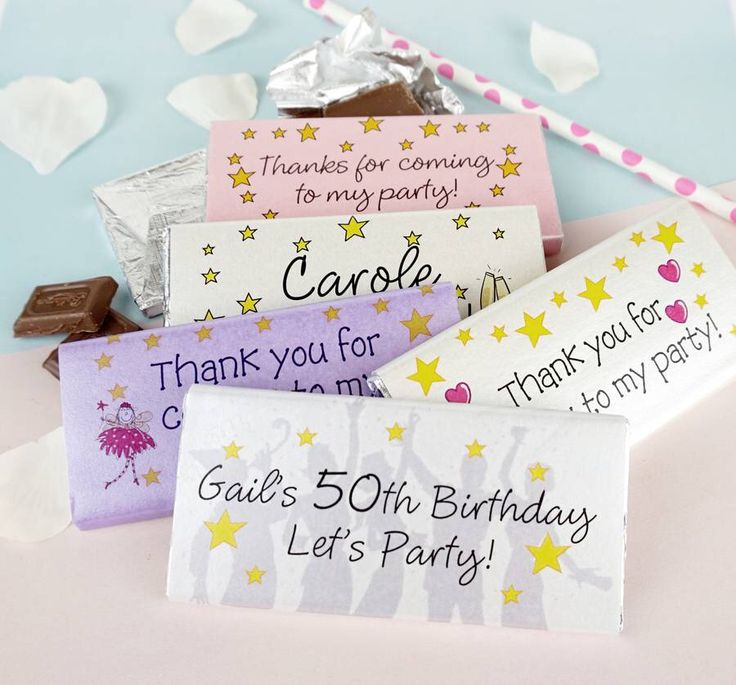 I've just found Personalised Party Bag Favours. Ideal for Party Bags.... Personalised chocolate party bag gifts make a great gift for party bags . £2.30