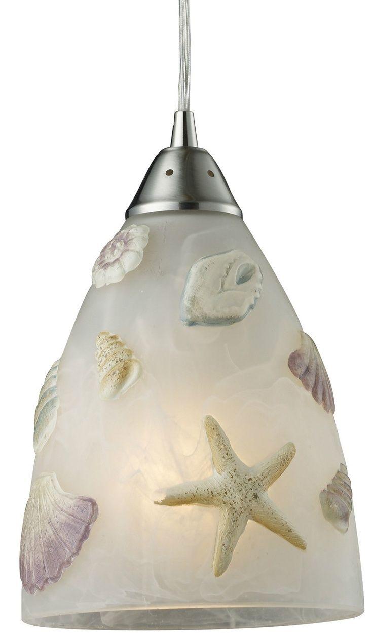 elk ltg seashore seashell 1 light mini pendant ceiling