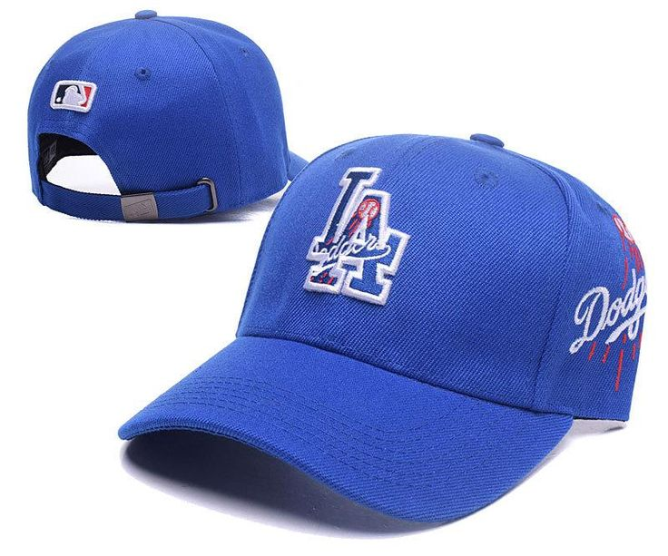 Men's / Women's Los Angeles Dodgers MLB Team Logo Double Mixed Strap Back Baseball Hat - Blue