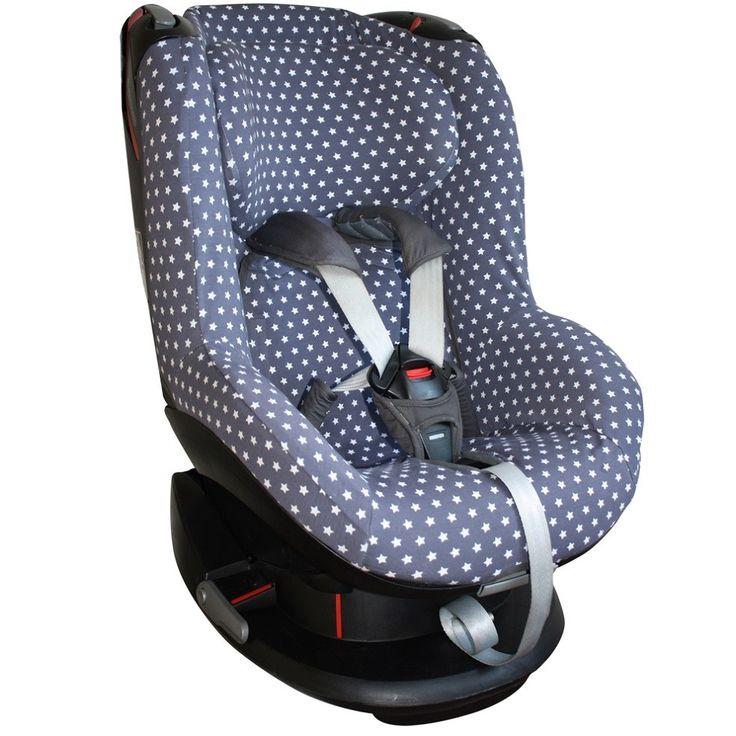Hoes autostoel Maxi Cosi Tobi, grijs met witte sterren. Neem voor meer autostoelhoezen een kijkje op www.ukje.nl