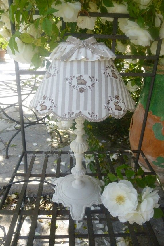 728 Best Images About Shabby Chic Lampshades On Pinterest Romantic Cottage Lace Lamp And