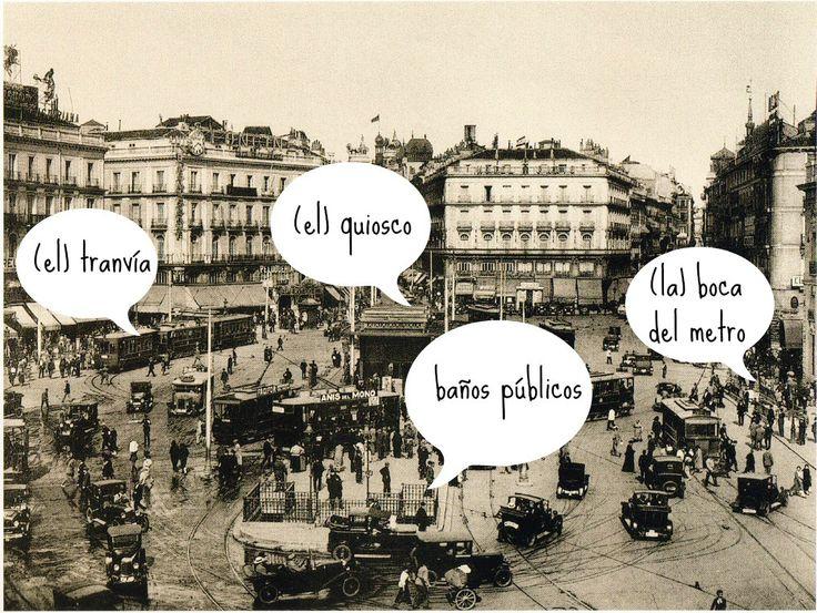 213 best images about antes y ahora recordar y hablar for Puerta del sol en directo ahora