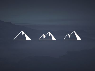 Like this for a wrist tattoo! Perfect blend of my triangle and mountain to remind me of home.