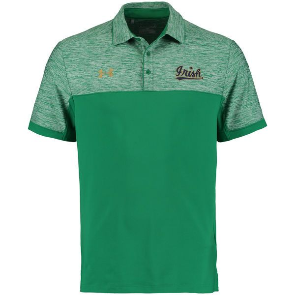 Notre Dame Fighting Irish Under Armour 2016 Coaches Podium Performance Polo - Kelly Green