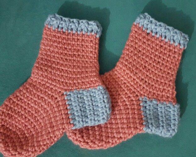 Crochet socks Calcetas a crochet