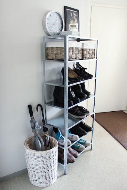 Ikea Hyllis Shoe Storage #closet