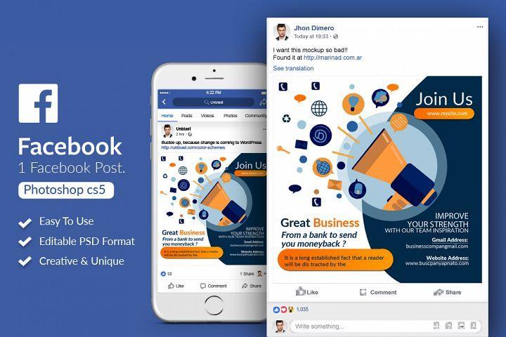 Business Marketing Facebook Post Banner 350121 Web Elements Design Bundles Facebook Post Design Business Marketing Design Facebook Marketing
