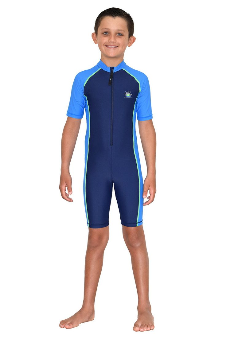 Boys Sunsuit One Piece Uv Protection Swimsuit Sun Guard -9742