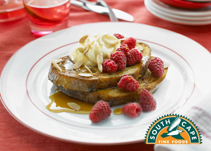 Almond French Toast with Maple Mascarpone