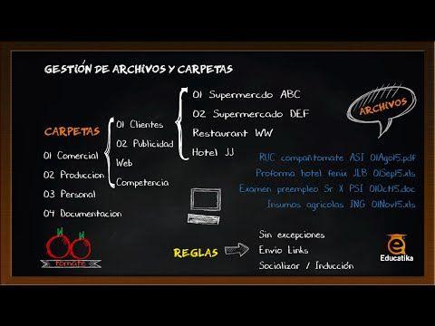 (2) MiniClase: Organización de Archivos y Carpetas / Gestión Documental - YouTube