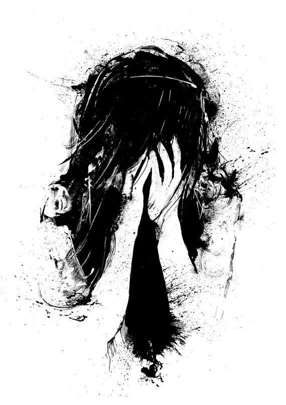 Black paint splatter wallpaper - Best 25 Sad Girl Ideas On Pinterest Sad Girl Drawing