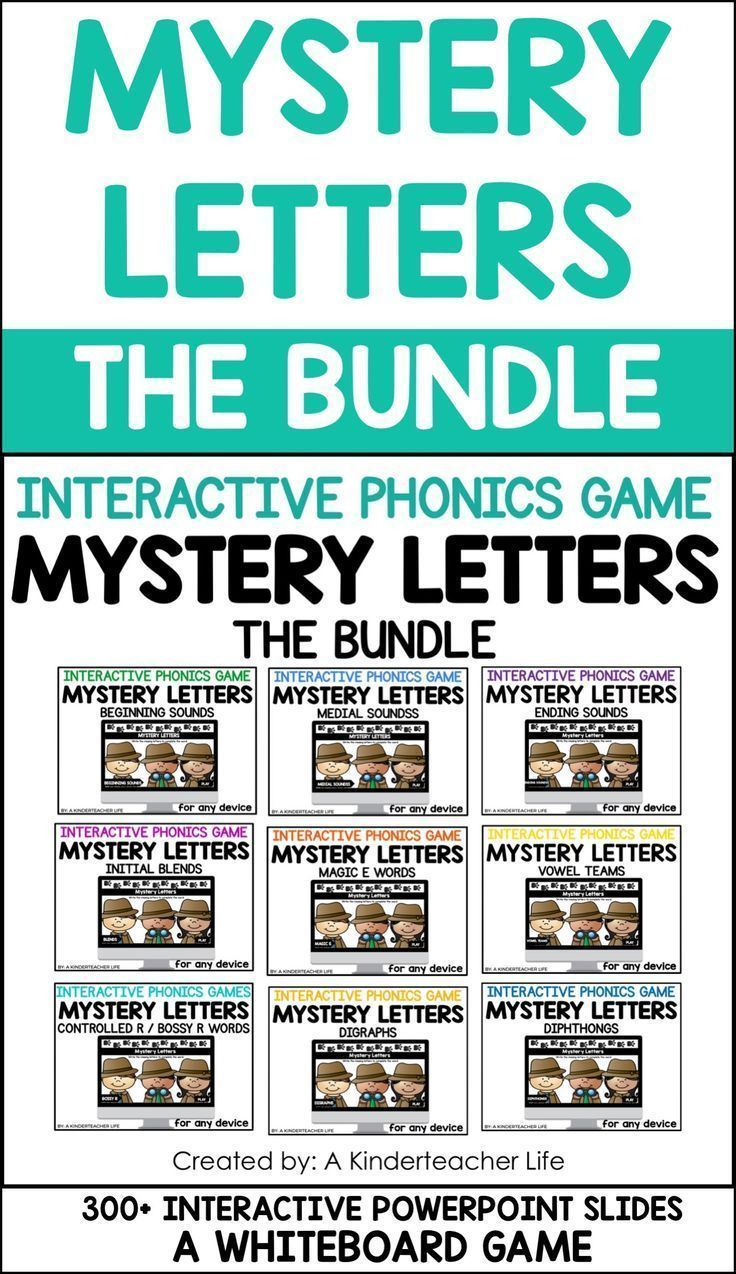 Mystery Letters is a paperless, interactive phonics game for primary aged-students. Click the link to find out more!   Mystery Letters is a whiteboard game for students to help students grow as readers and writers by writing the missing letters in a word. Students have to look at the picture and the word and write the missing letter. Then, they check their work on the next slide. Simple!  This is a NO-PREP, download and play game.