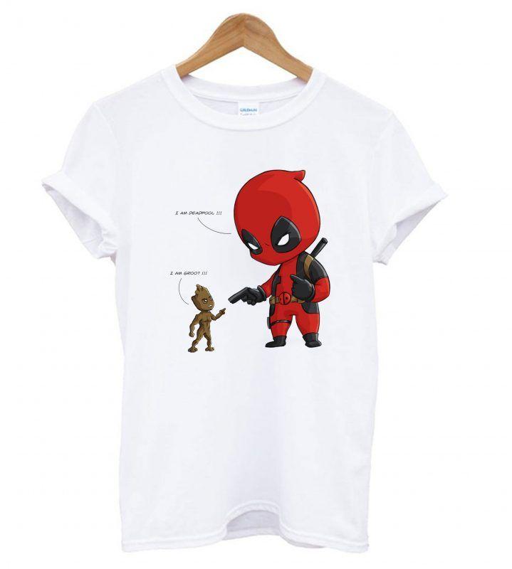 36c78b82 Baby Groot and Baby Deadpool T shirt | T shirt | Deadpool t shirt ...