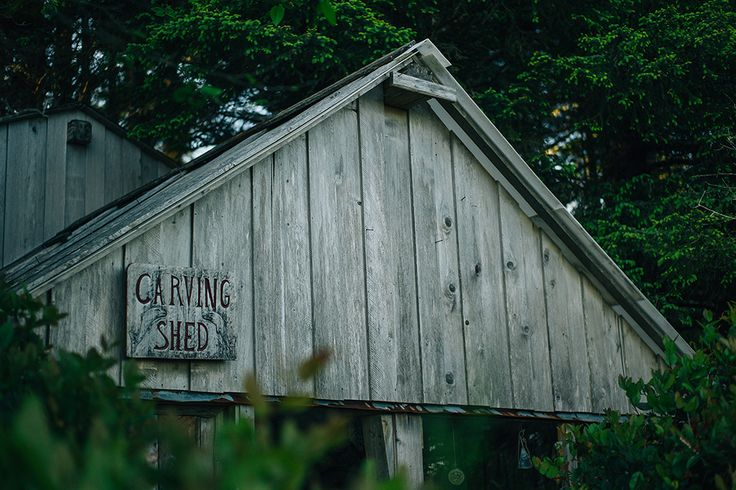 The Carving Shed - a 'must-see' while visiting the Inn. Lots of stories to be told by our resident carver 'Feather George' www.wickinn.com / Photo Credit: www.nordicaphotography.com