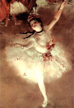 degas ballerina. I saw this at the Getty!